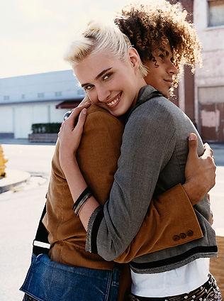 Happy Hugging Couple