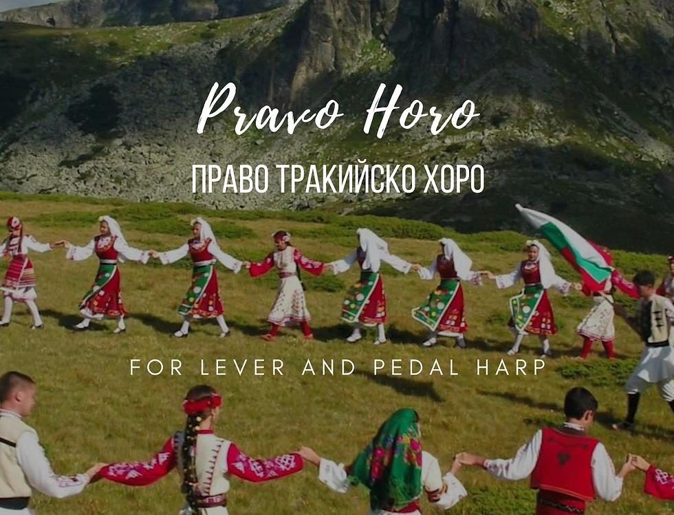 Pravo Horo - solo harp score