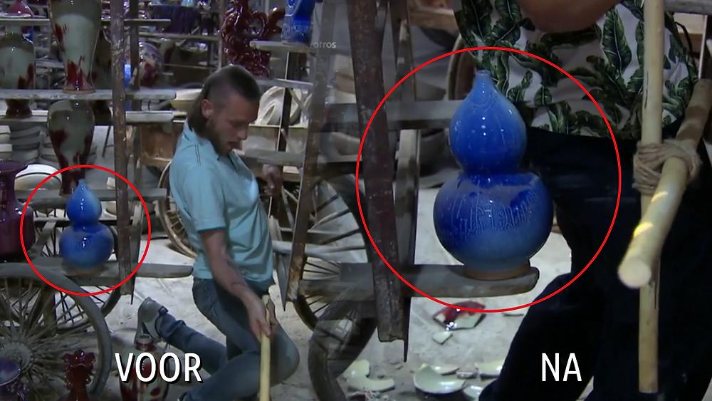 De verplaatste vaas