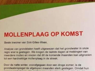 Inwoners Vlaanderen krijgen opmerkelijke brief over mollen