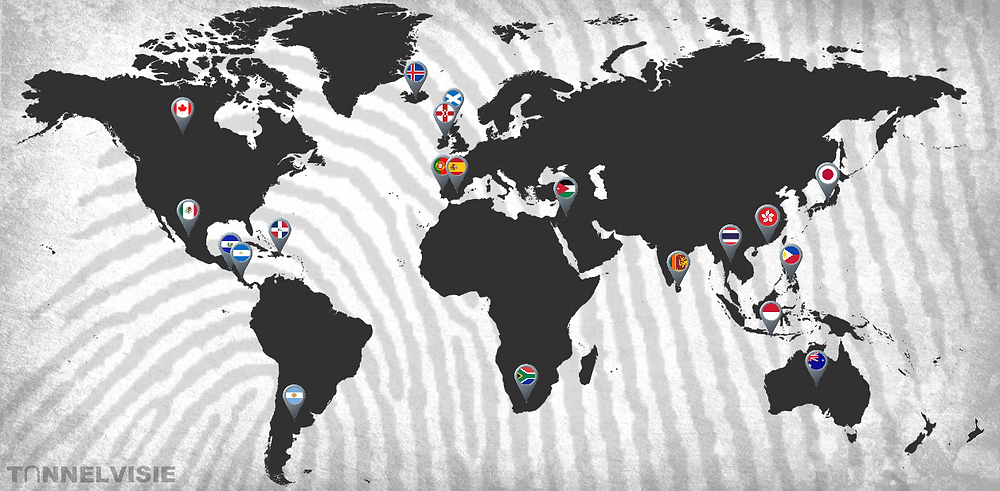 De 20 landen van Wie is de Mol?