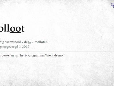 'Molloot' eindelijk opgenomen in Dikke Van Dale