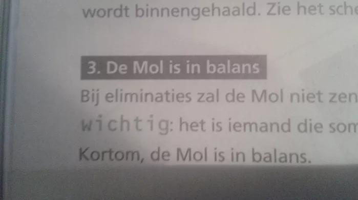 De Mol is in balans