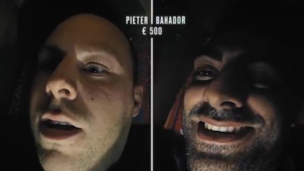 Pieter en Bahador in de kiste