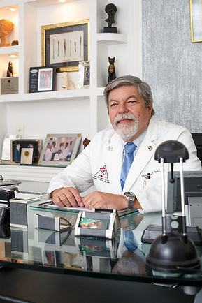Dr Domingos in his office
