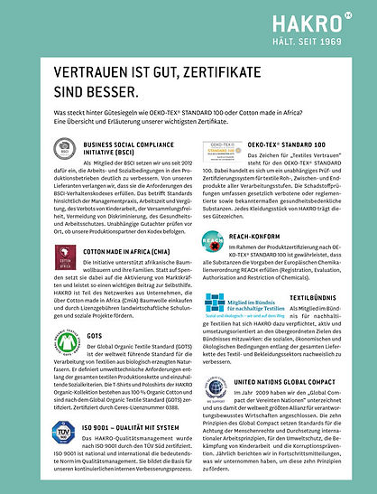 HAKRO Zertifikate Nachhaltigkeit