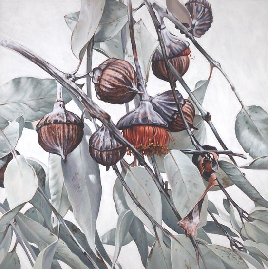 Pods and Leaves II giclee print, editions of 50 (canvas), 20 (paper