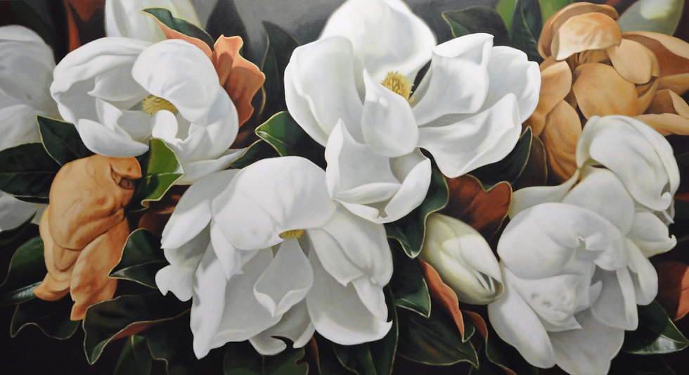 Magnolias 2316 giclee print  editions of 99 (canvas), 20 (paper)