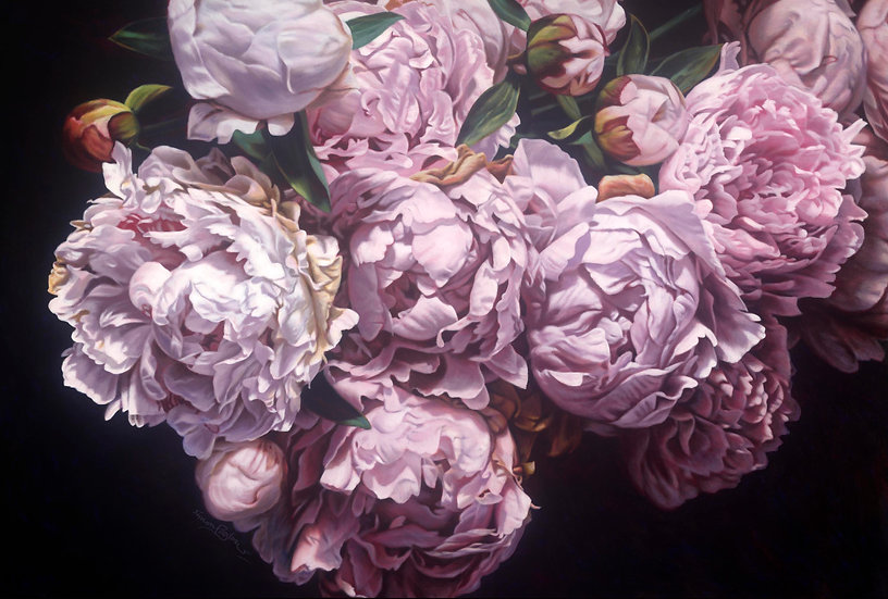Pink Peonies 0616 giclee print editions of 99 (canvas), 20 (paper)