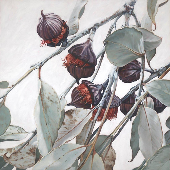 Pods and Leaves I giclee print, editions of 50 (canvas), 20 (paper