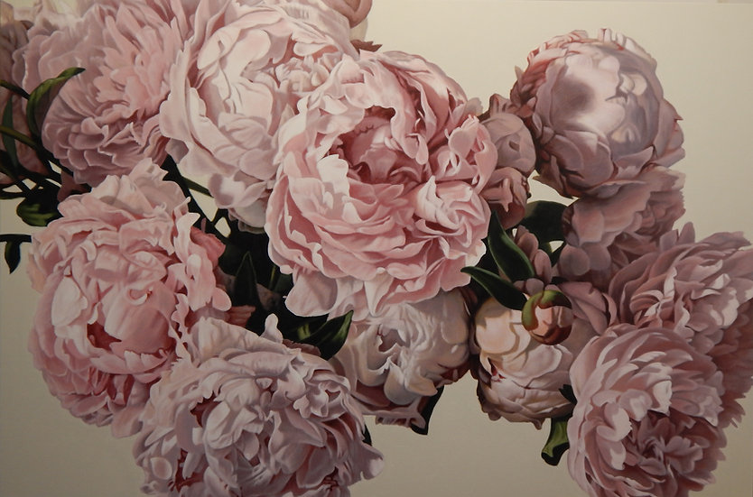 Pink Peonies 0516 giclee print editions of 99 (canvas), 20 (paper)