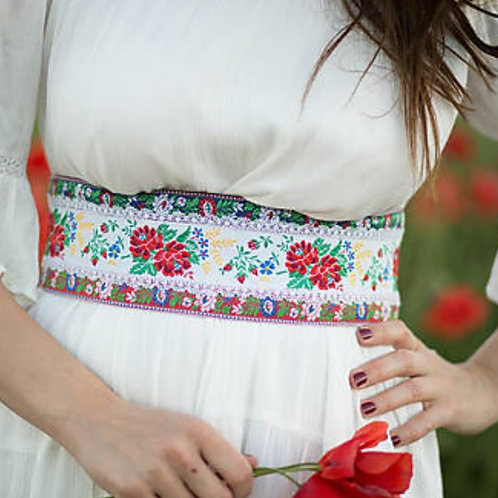 Folk Pattern Slimming Belt