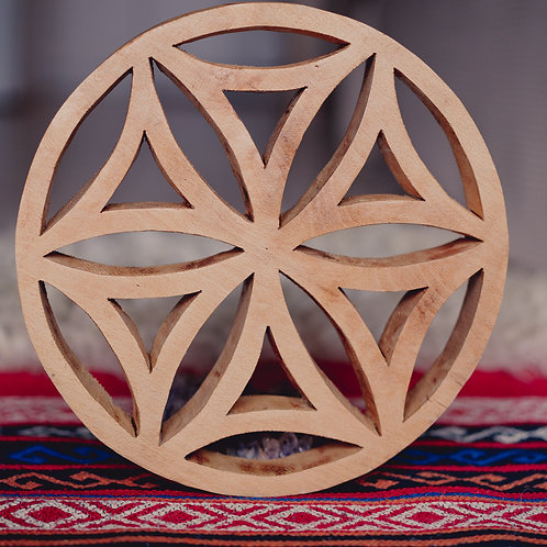 Hand Carved Wooden Perun Symbol