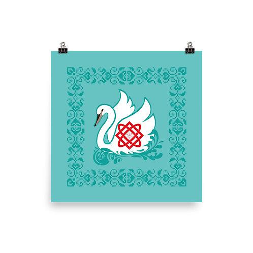 Lada Swan Paper Poster