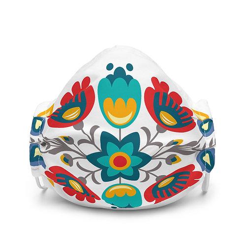 Slavic Floral Print Face Mask