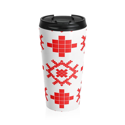 Slavic Symbol Stainless Steel Travel Mug