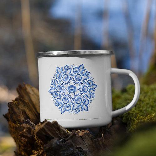Slavic Print Enamel Mug
