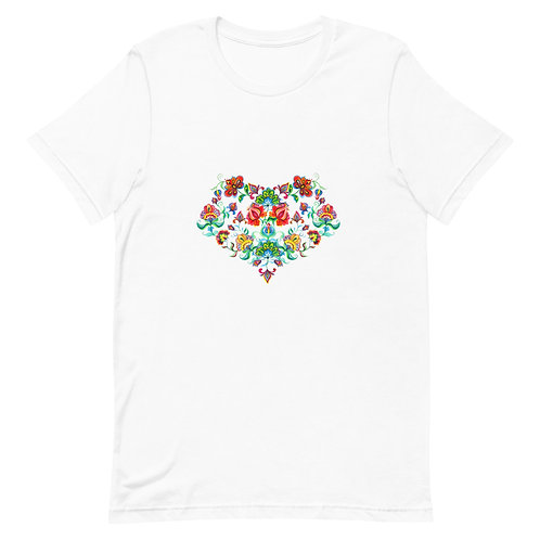 Slavic Floral Print Short-Sleeve Unisex T-Shirt
