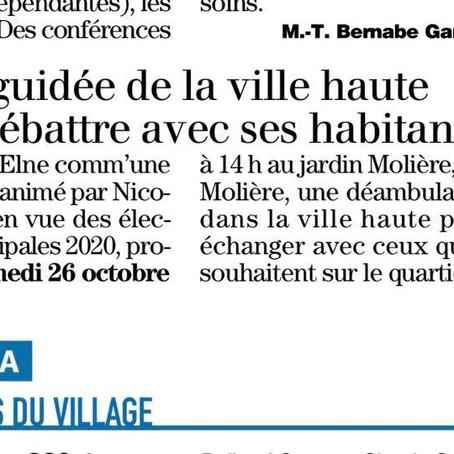 Visite guidée 26/10 Ville Haute Elne - 14H - Rue Molière