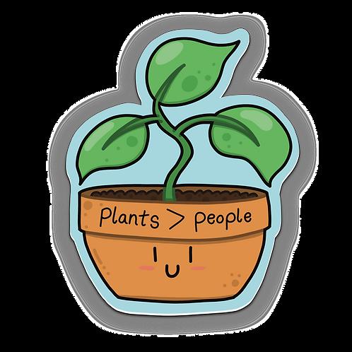 """Plants > People - Sticker (3""""x3"""")"""