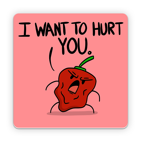 """Angry Pepper - Sticker (3""""x3"""")"""