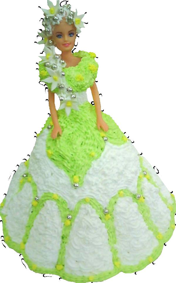 Кукла в зеленом