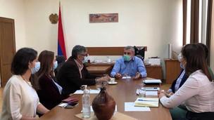 Հանդիպում ՀՀ առողջապահական և աշխատանքի տեսչական մարմնի ղեկավար Հակոբ Ավագյանի հետ