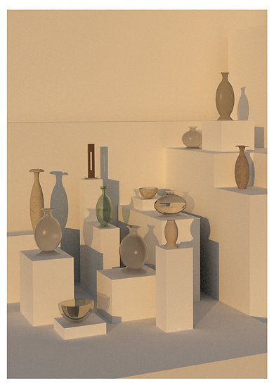 Vases and sculptures