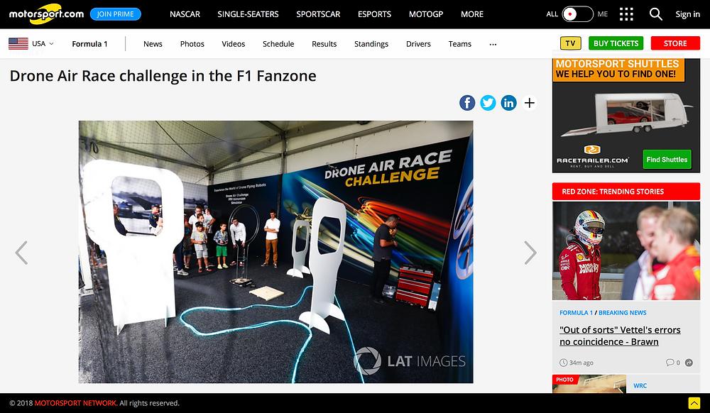 Animation drone fanzone formule 1 2017