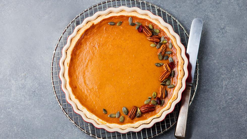 Pumpkin & Pecan Tart