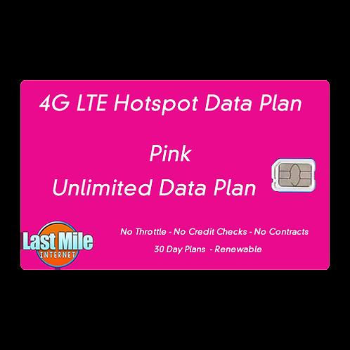 Pink Unlimited 4G LTE Wireless Internet Data Plan