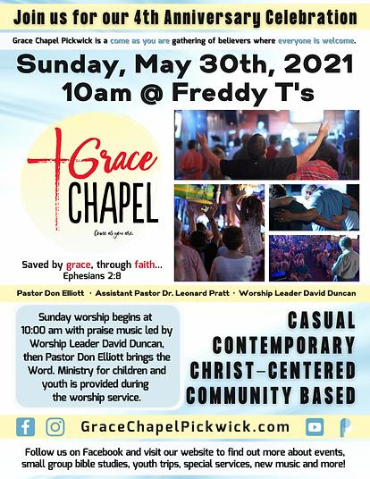 Grace Chapel 4th Anniversary Celebration