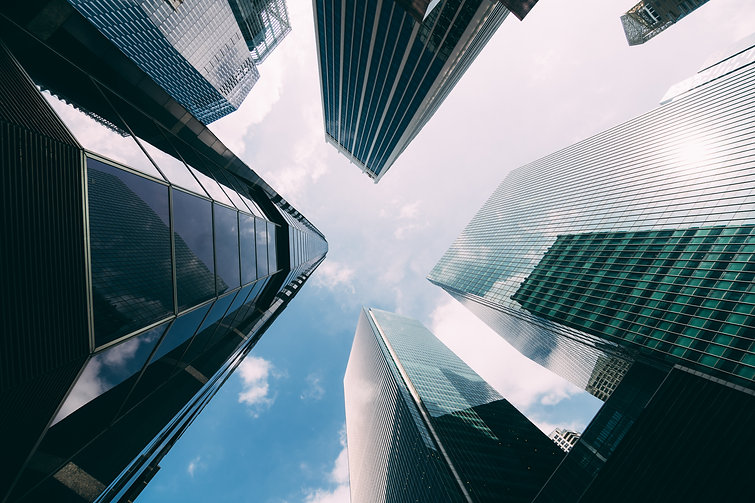 modern-office-building-low-angle-view-of