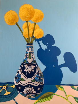 Vase with Yellow Flowers