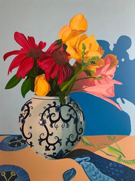 Echinacea in Bud Vase