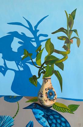 Abracadabra Vase with Bamboo