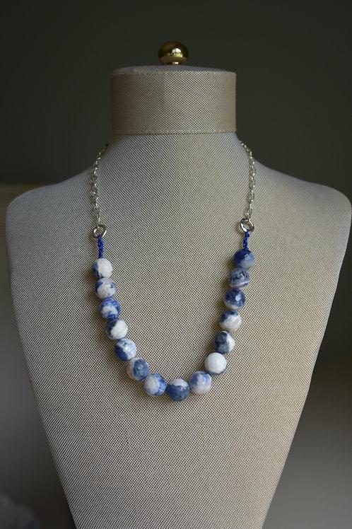 blue sodalite and silk