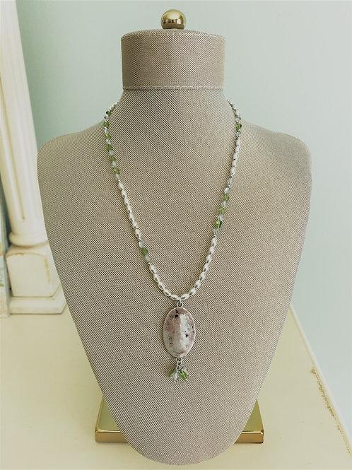 silver and peridot