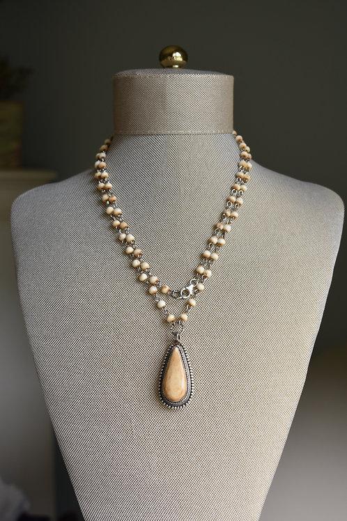 carmel bone pendant and large bone rosary