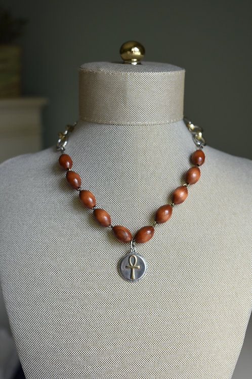 wooden rosary decade
