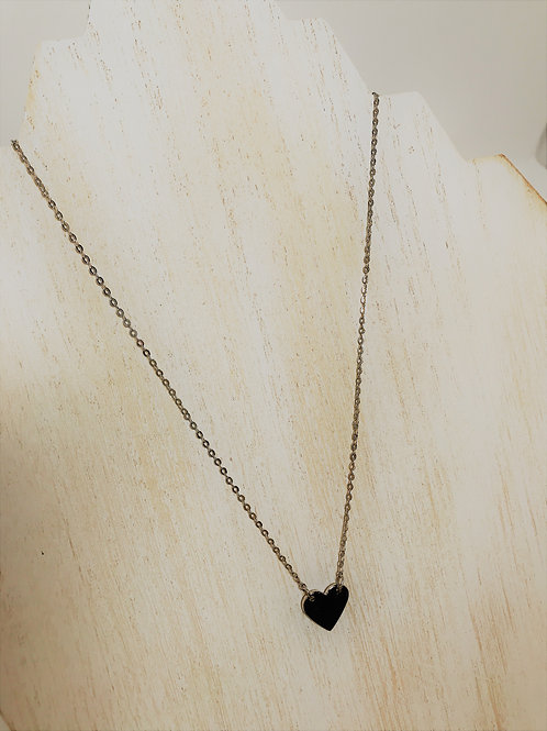 silver plated heart and chain
