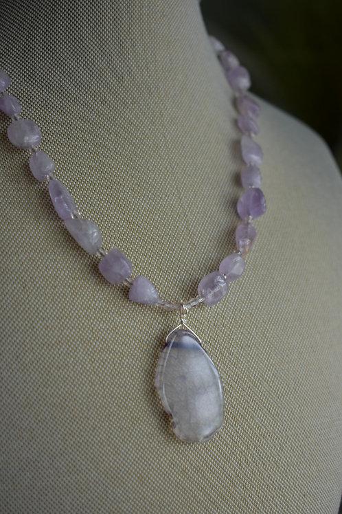 purple quartz pendant