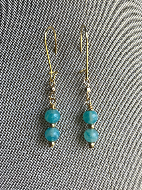 turquoise glass drops