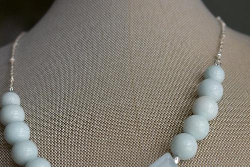 aqua quartz & pale blue jade