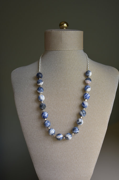 blue sodalite & silver