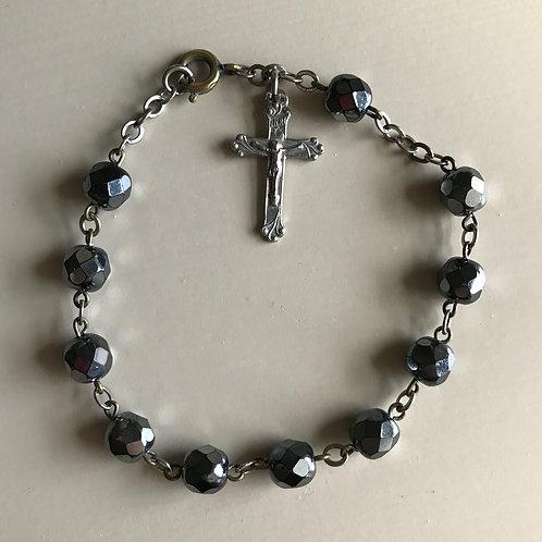 hemitite deacde rosary with cross