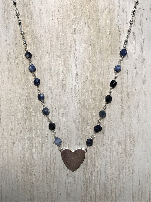 sodalite and silver