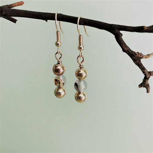 rose gold and agate drops