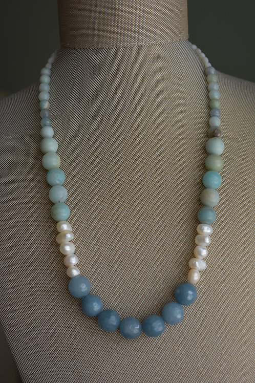 blue sea and sky with pearls
