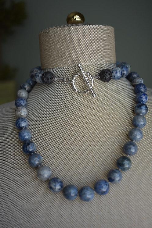 blue dumortierite hand tied
